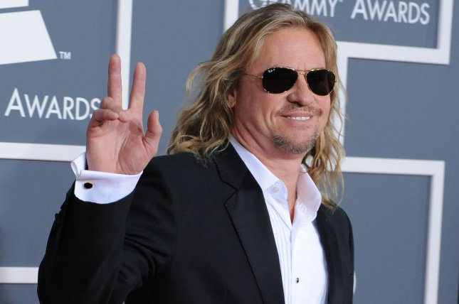 Val Kilmer arrives at the 54th annual Grammy Awards on February 12, 2012. In a post on Facebook, Kilmer addressed Michael Douglas' claim that he was battling cancer saying Douglas was misinformed. File Photo by Jim Ruymen/UPI