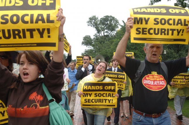 A Gallup poll shows that both younger and older Americans Social Security, the largest welfare program in the United States, will be a major source of income for their retirement. File Photo by Michael Kleinfeld/UPI