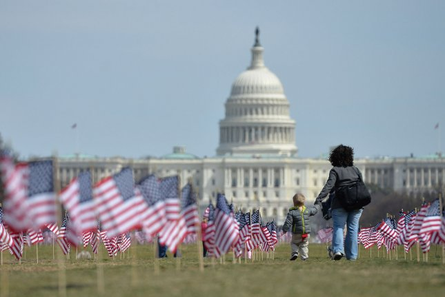 The survey showed nearly a quarter of all U.S. children live in a single-parent home. File Photo by Kevin Dietsch/UPI