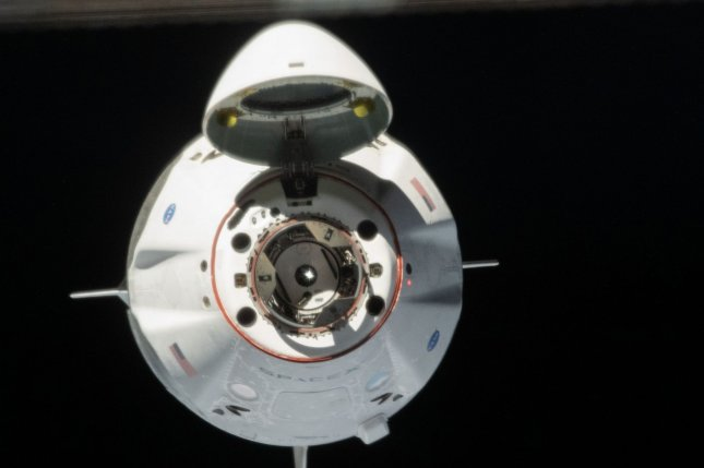 SpaceX's Crew Dragon capsule, Endeavor, is shown May 31 as it docks with the International Space Station. It is scheduled to depart Sunday. Photo courtesy of NASA