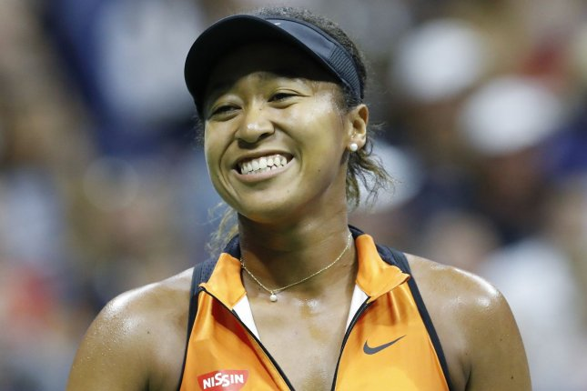 Tennis star Naomi Osaka, the highest-paid female athlete in the world in 2020, is now part owner of the NWSL's North Carolina Courage. File Photo by John Angelillo/UPI