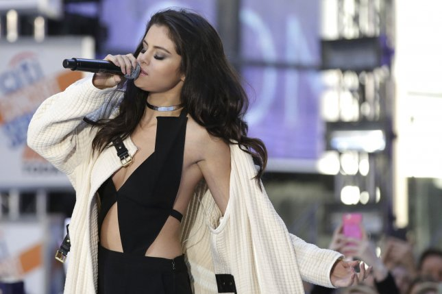 Selena Gomez performing on the Today Show. Gomez recently presented an award to Amy Schumer at the Hollywood Film Awards where she honored the comedian for her honesty and uplifting messages. Photo by John Angelillo/UPI
