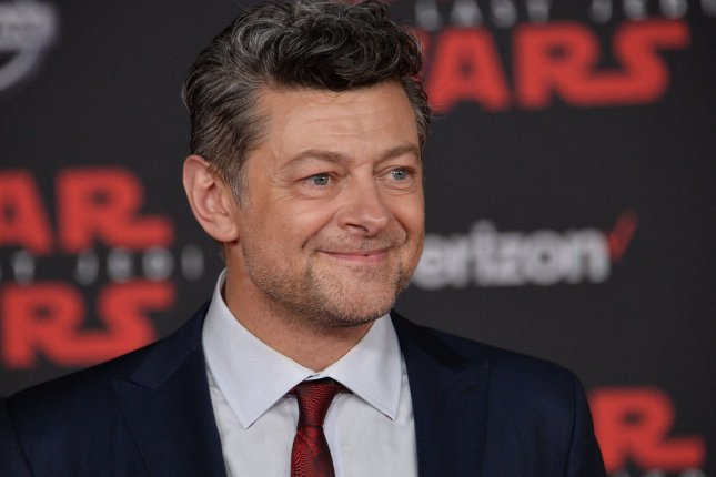 A group of high-profile film publicists is honoring Andy Serkis for his contributions to cinema. File Photo by Jim Ruymen/UPI