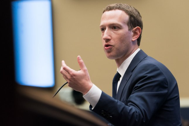 Facebook co-founder and CEO Mark Zuckerberg testifies before a House Energy and Commerce Committee hearing on transparency and use of consumer data on Capitol Hill  last year. File Photo by Erin Schaff/UPI