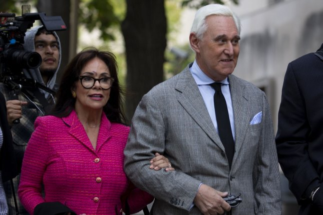 Roger Stone faces trial in Washington, D.C., for charges including lying to Congress, witness tampering and obstructing justice. Photo by Tasos Katopodis/UPI