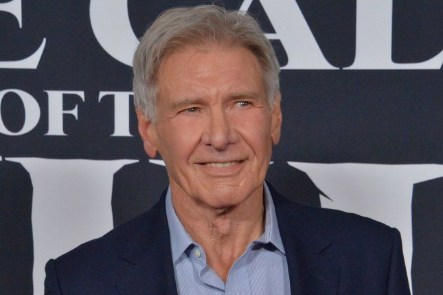 Harrison Ford will star alongside Ed Helms in a new comedy film, titled The Miserable Adventures of Burt Squire Aboard the Horn High Yo. File Photo by Jim Ruymen/UPI