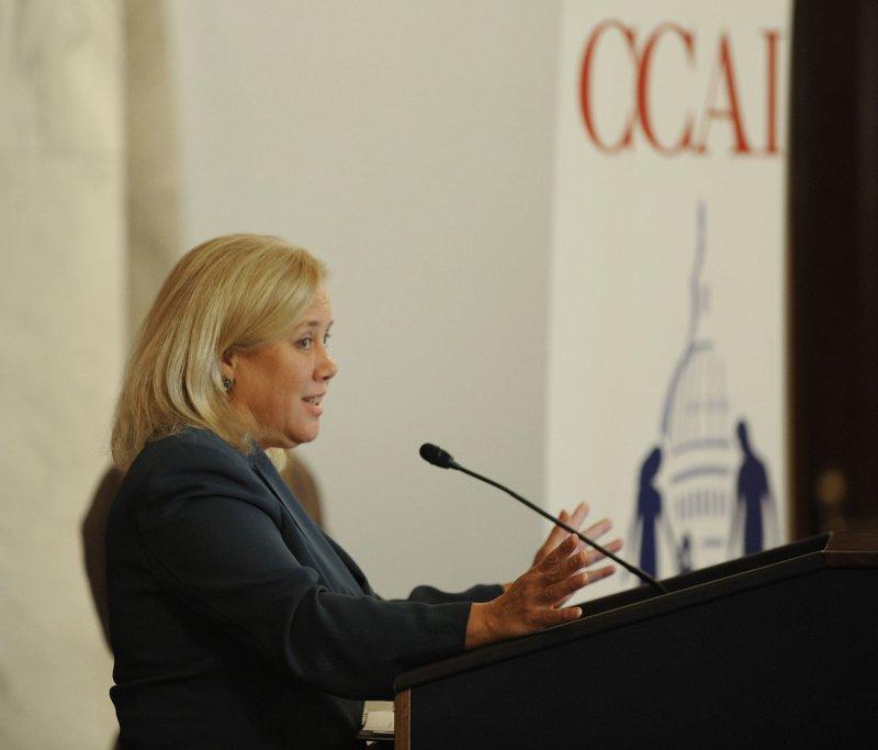 U.S. Sen. Mary Landrieu, D-La, on Capitol Hill in Washington, Oct. 4, 2011. UPI/Roger L. Wollenberg