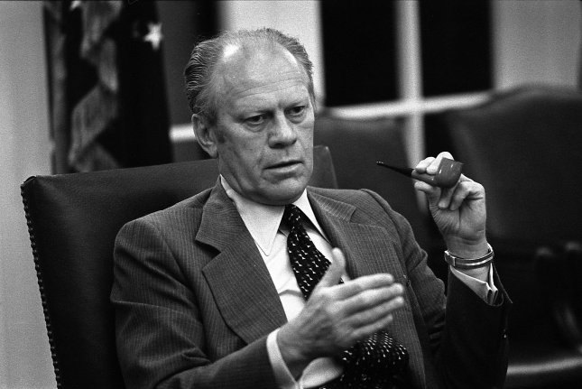 U.S. President Gerald Ford at the White House May 13, 1975. (UPI Photo/ David Hume Kennerly/Gerald R. Ford Library)