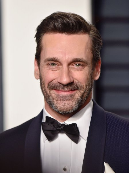 Jon Hamm attends the Vanity Fair Oscar Party in Beverly Hills on February 26. The actor has joined the cast of the new series, Good Omens. File Photo by Christine Chew/UPI