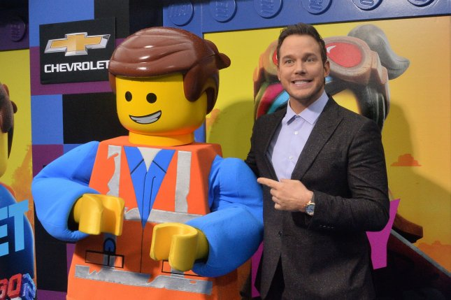 Cast member Chris Pratt attends the premiere of Lego Movie 2: The Second Part in Los Angeles on February 2. Photo by Jim Ruymen/UPI