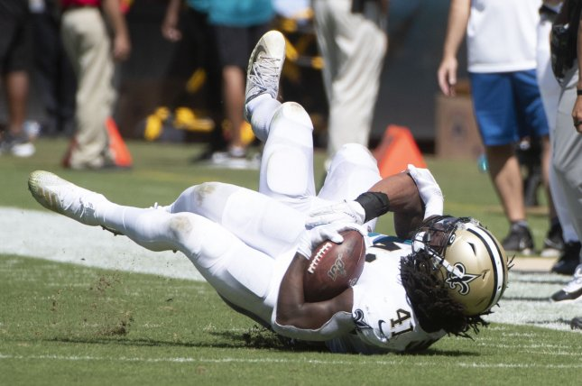 New Orleans Saints running back Alvin Kamara has 373 yards and one score on 86 carries this season. He also has 276 yards and a score on 33 receptions. Photo by Joe Marino/UPI