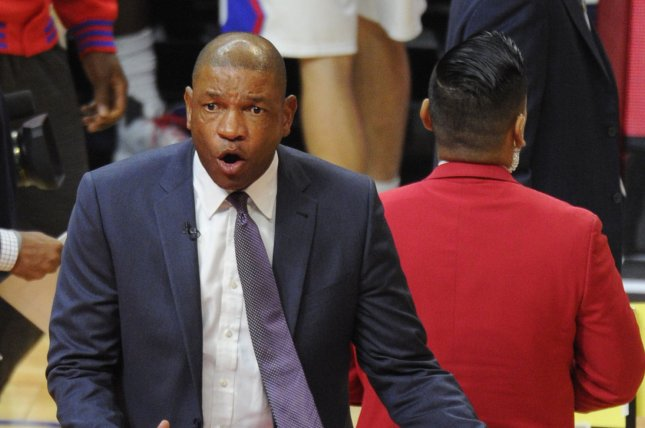 Los Angeles Clippers coach Doc Rivers guided the team to a 356-208 record in seven seasons. File Photo by Lori Shepler/UPI