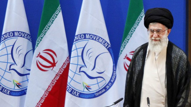 Iran's Supreme leader Ayatollah Ali Khamanei attends the opening ceremony of the 16th summit of the Non-Aligned Movement (NAM) in Tehran, Iran on August 30, 2012. UPI/Khamenei.ir/HO