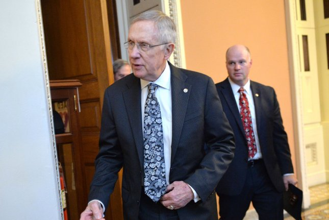 Senate Majority Leader Harry Reid, shown here in the Capitol in Washington on Dec. 16, injured himself while working out at his home in Henderson, Nev. UPI/Kevin Dietsch