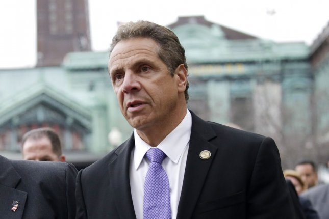 New York Gov. Andrew Cuomo says his state is committed to becoming the nation's leader in offshore wind energy development. Photo by John Angelillo/UPI