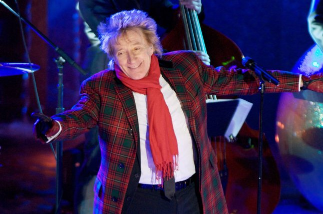 Rod Stewart performs during the 80th annual Rockefeller Center Christmas Tree Lighting Ceremony on November 28, 2012 in New York City. Stewart and Cyndi Lauper are going on tour together this summer. File Photo by Monika Graff/UPI
