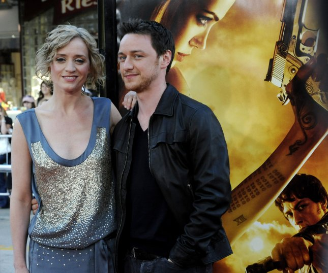 Actor James McAvoy, a cast member in the motion picture action thriller Wanted, attends the premiere of the film with Anne-Marie Duff during opening night of the Los Angeles Film Festival in Los Angeles on June 19, 2008. (UPI Photo/Jim Ruymen)