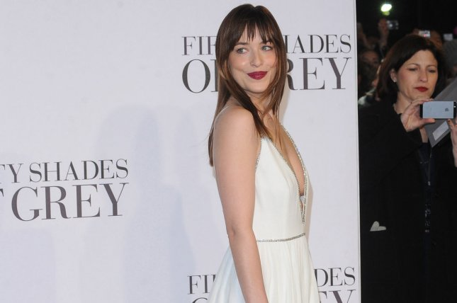 American fashion model and actress Dakota Johnson attends the UK Premiere of 'Fifty Shades Of Grey' at Odeon Leicester Square in London on February 12, 2015. UPI/Paul Treadway