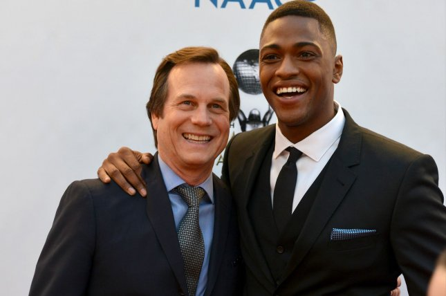 (L-R) Bill Paxton and Justin Cornwell arrive for the 48th NAACP Image Awards at the Pasadena Civic Auditorium on February 11. The series finale of their cop drama Training Day airs Saturday on CBS. File Photo by Christine Chew/UPI