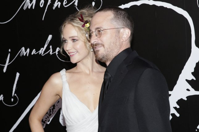 Jennifer Lawrence (L), pictured with Darren Aronofsky, stepped out with the director Wednesday. File Photo by John Angelillo/UPI