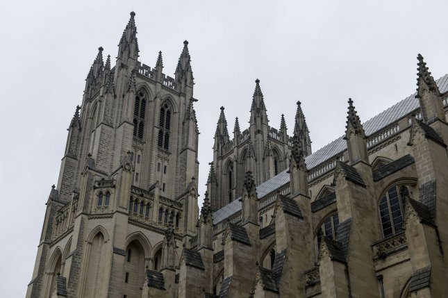 The exterior of the Washington National Cathedral. A Gallup poll released on Monday indicates that 72 percent of Americans regard religion as very important or fairly important in their lives. File Photo by Leigh Vogel/UPI