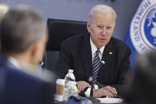 President Joe Biden, seen here during a briefing at FEMA headquarters on Monday, will meet with the Russian leader in the middle of June. Photo by Oliver Contreras/UPI