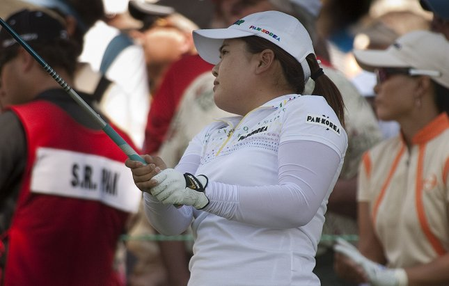 Inbee Park, shown in a 2011 file photo, collected her fifth LPGA title of 2013 on Sunday and remains No. 1 in the world women's golf rankings. UPI/Gary C. Caskey