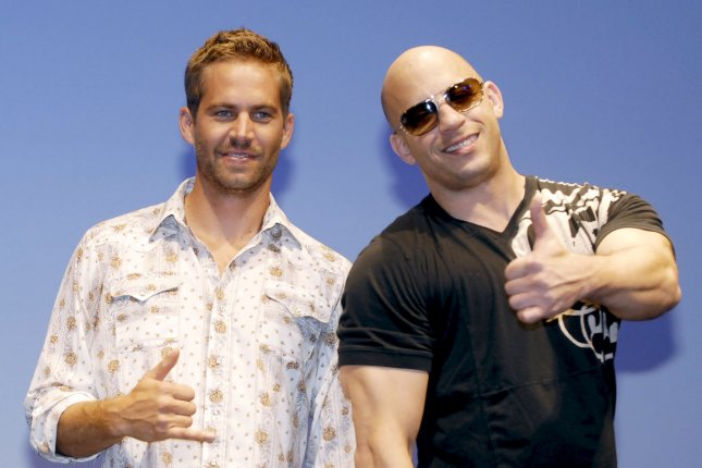 Vin Diesel (R) named his new daughter Pauline after friend and late actor Paul Walker. File photo by Keizo Mori/UPI