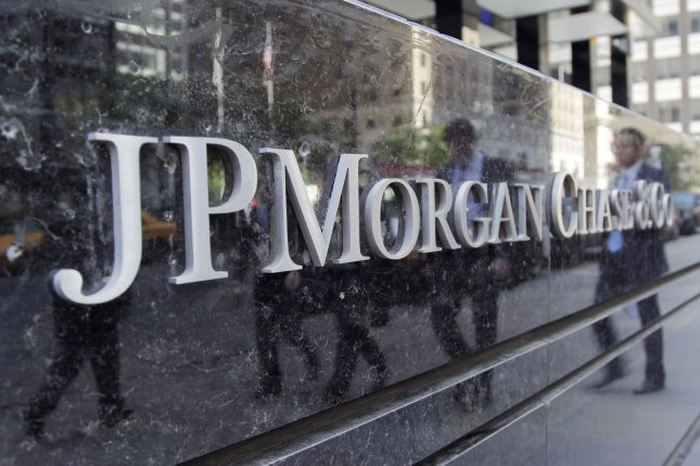 The JPMorgan Chase & Co. sign outside the bank's headquarters on Park Avenue in New York City. The European Commission fined JPMorgan $360 million for colluding to manipulate a benchmark euro interest rate. File photo by John Angelillo/UPI