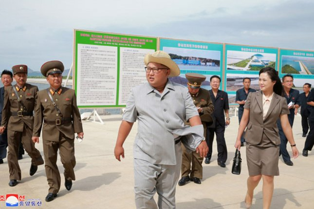North Korea's Kim Jong Un has been enforcing a housing law to curb real estate prices, according to a South Korean analyst. File Photo by KCNA/UPI