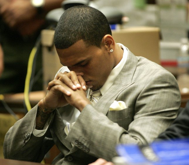 Singer Chris Brown is shown in a preliminary hearing at the Criminal Courts Building, to determine whether he should stand trial for allegedly attacking his girlfriend, pop sing Rihanna in Los Angeles on June 22, 2009. (UPI Photo/Lori Shepler)