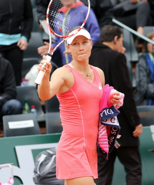 Samantha Stosur, shown at the 2013 French Open, posted a straight-set win Monday at the Southern California Open. UPI/David Silpa