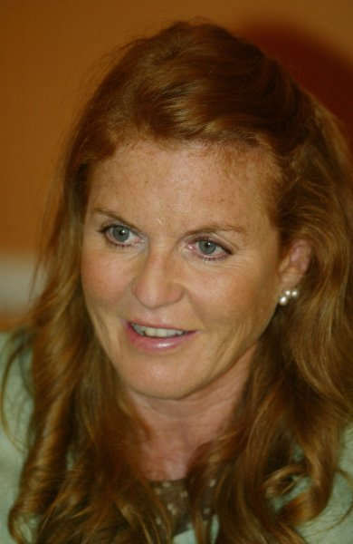 Sarah Ferguson, the Duchess of York, visits the Ronald McDonald House in New Orleans to help raise money for the Ronald McDonald House Charities on June 16, 2007. (UPI Photo/A.J. Sisco)