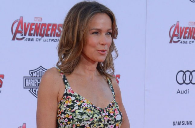 Jennifer Grey arrives on the red carpet for the premiere of the motion picture sci-fi thriller Avengers: Age of Ultron at the Dolby Theatre in the Hollywood section of Los Angeles on April 13, She recently revealed the famous lift beween herself and Patrick Swayze in 'Dirty Dancing' was never rehearsed. Photo by Jim Ruymen/UPI