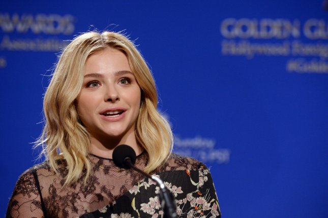 Actress Chloe Grace Moretz told host James Corden her four older brothers had intimidated current boyfriend Brooklyn Beckham when they first started dating. Photo by Jim Ruymen/UPI