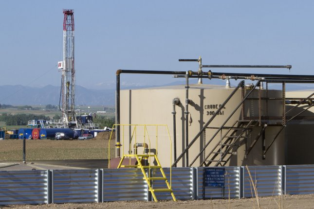 North Dakota exploration and production activity moving lower as the state struggles with emerging fiscal strains from lower crude oil prices. File photo by Gary C. Caskey/UPI