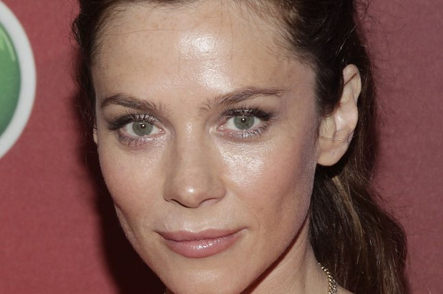 'Marcella' actress Anna Friel arrives at NBC's upfront presentation in New York City on May 12, 2014. File Photo by John Angelillo/UPI