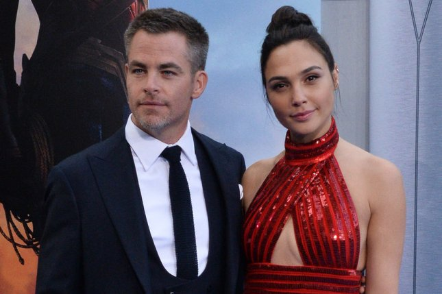 Gal Gadot (R) and Chris Pine attend the Los Angeles premiere of Wonder Woman on Thursday. Photo by Jim Ruymen/UPI