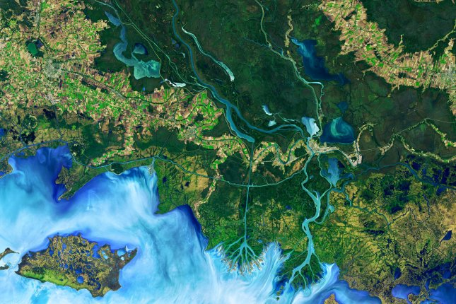 River system complexity is essential to the health and stability of animal populations, new research shows. Photo by NASA/UPI