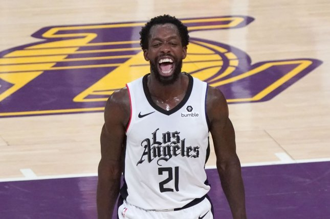 Former Los Angeles Clippers guard Patrick Beverley, shown Dec. 25, 2019, spent the past four seasons in Los Angeles. He averaged 7.5 points and 3.2 rebounds per game last season. File Photo by Jon SooHoo/UPI