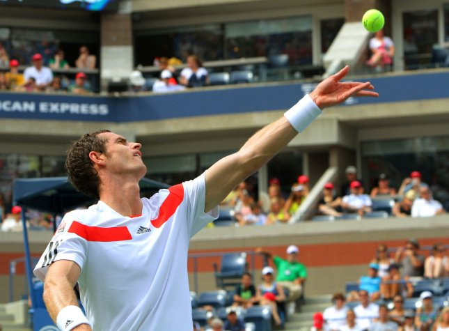 Andy Murray, shown at the 2013 U.S. Open, was among the winners Thursday in second-round action of the ABN AMRO World Tennis Tournament in the Netherlands. UPI Photo/Monika Graff