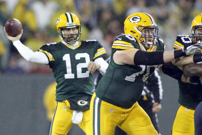 Green Bay Packers quarterback Aaron Rodgers and other notable team holdouts are likely to play in the second preseason game Thursday night vs. the Oakland Raiders. Photo by Frank Polich/UPI