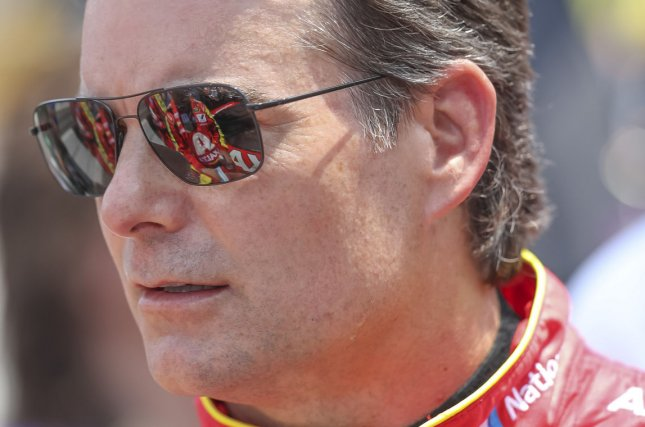 Jeff Gordon before the 23rd Brickyard 400 at the Indianapolis Motor Speedway on July 24, 2016 in Indianapolis, Indiana. Photo by Bob Ellis/UPI