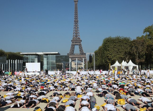 aris city officials said a reported plan to cover the Eiffel Tower with 600,000 plants is only a proposal that has not been reviewed by the government. UPI/David Silpa