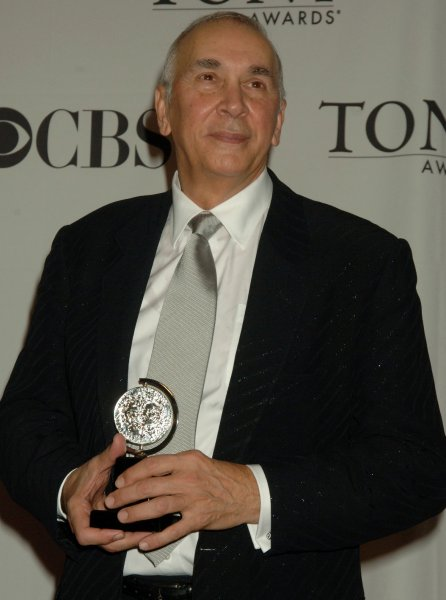 Actor Frank Langella, Best Actor in a Play (Frost/Nixon), holds his award at the 2007 Tony Award ceremonies held at Radio City Music Hall in New York on June 10, 2007. (UPI Photo/Ezio Petersen)