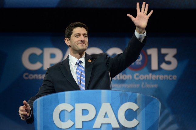 Rep. Paul Ryan (R-WI) delivers remarks during the 2013 Conservative Political Action Conference, on March 15, 2013 in National Harbor, Maryland. UPI/Kevin Dietsch