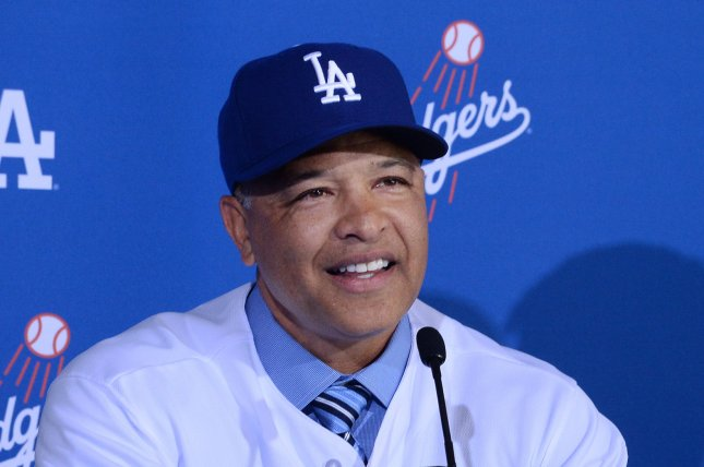 The Los Angeles Dodgers and manager Dave Roberts could get a boost in the second half from top left handed pitching prospect Julio Urias. Photo by Jim Ruymen/UPI