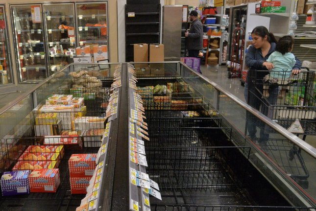 U.S. Food and Drug Administration officials assured the American public that no food shortages exist. File Photo by Jim Ruymen/UPI