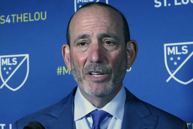 Major League Soccer commissioner Don Garber said the league will consider Phoenix, San Diego and Las Vegas as sites for a 30th team, while Sacramento's bid is placed on hold. File Photo by Bill Greenblatt/UPI
