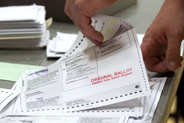 The Texas Senate on Sunday approved S.B.7 which would place restrictions on sending and receiving mail-in ballot applications, while also banning ballot drop-boxes, drive-throughs and other voting methods. FilePhoto by Kevin Dietsch/UPI